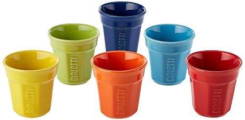 Bialetti 6 Cup Multicolor Espresso Cups