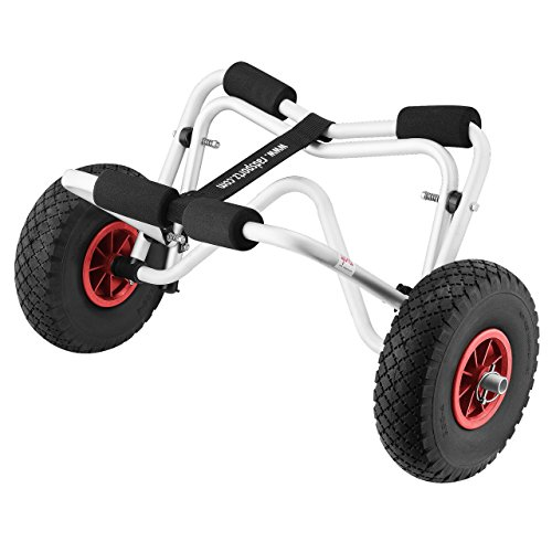 (1236 RAD Sportz Kayak Trolley Kayak Cart with Pneumatic Tires 150 LB Capacity Silver)
