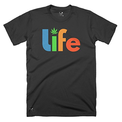 HomeGrown Outfitters Men's HG Life T-shirt (2XL, Black)