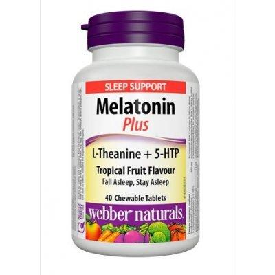 Webber Naturals Super Sleep Melatonin Plus L-Theanine & 5-HTP, 40 Chewable ()