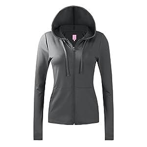 REGNA X Bother Women's jersey lightweight active full zip up hoodie jacket