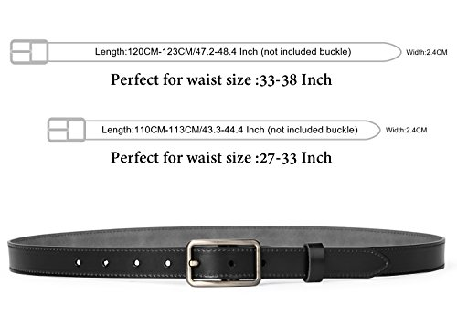 JASGOOD Women's Leather Skinny Belt Casual Ladies Belt for Jeans Dress Pants With Exquisite Alloy Buckle