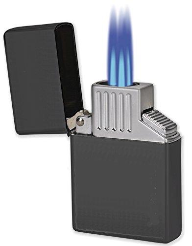 [해외]버티고 빅 -Z 테이블 탑 부탄 트리플 토치 시가 라이터 - 블랙/Vertigo Big-Z Table Top Butane Triple Torch Cigar Lighter - Black