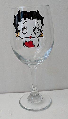 Betty Boop Inspired Wine Glass | Betty Boop Theme | Betty Boop Glass | Betty Boop Gift | Friend Gift | Christmas Gift | Birthday Gift