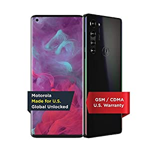 Motorola Edge | Unlocked | Made for US by Motorola | 6/256GB | 64MP Camera | 2020 | Solor Black