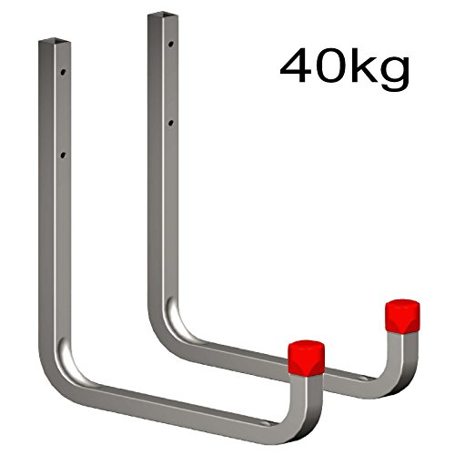 2 x 250mm Extra Large Storage Wall Hooks 40kg Galvanised Steel, Ladders & Tools by Smarthome