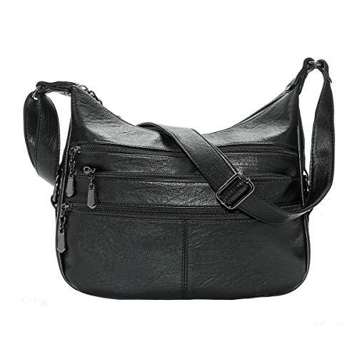 Aonet Multi Pocket Purses for Women, Large Capacity Womens Shoulder Bags Crossbody Purses Travel Bag and Handbags
