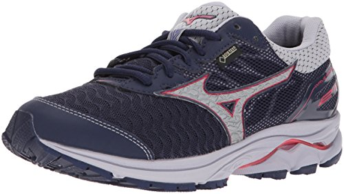 Mizuno Women's Wave Rider 21 GTX Running Shoe Athletic Shoe, Eclipse/Silver, 7 B US