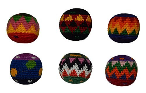 Hacky Sack Assorted Colors - Pack of 6