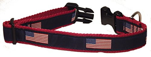 Preston American Flag Dog Collar, Large, 15-inch to 24-inch by Preston Inc