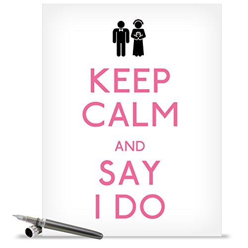 J1463 Jumbo Funny Wedding Card: Say I Do With Envelope (Extra Large Version: 8.5'' x 11'') (I-class Card)