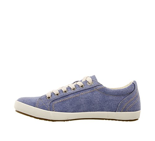 Taos Footwear Damen Star Fashion Sneaker Himmelblau Wash Canvas
