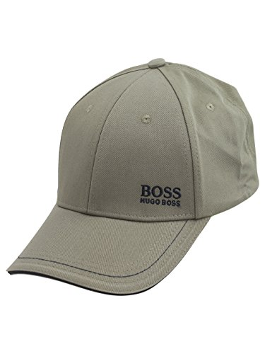 (Hugo Boss Cap-1 Open Green Cotton Strapback Baseball Cap Hat (One Size Fit Most) )