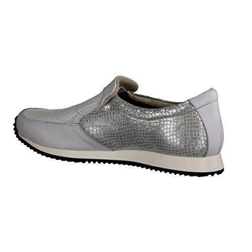XSENSIBLE Vilar 20003.3.10- Bequemschuhe/Lose Einlage Damenschuhe Bequeme Ballerina/Slipper, Weiß, stretchleder (Sehr Dehnbar), Absatzhöhe: 15 mm