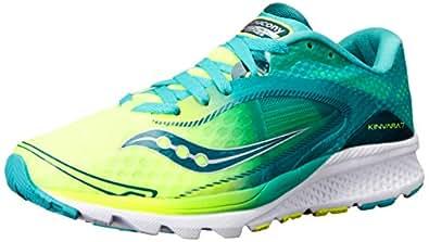 Saucony Women's Kinvara 7 Running Shoe, Teal/Citron, 5 M US