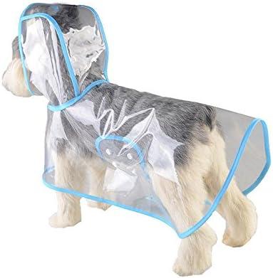 AOLVO Perro Chubasquero Perro Lluvia Poncho Transparente Impermeable Cachorro Chubasquero Mascota Ropa para Perros Pequeños/Medianos/Grandes