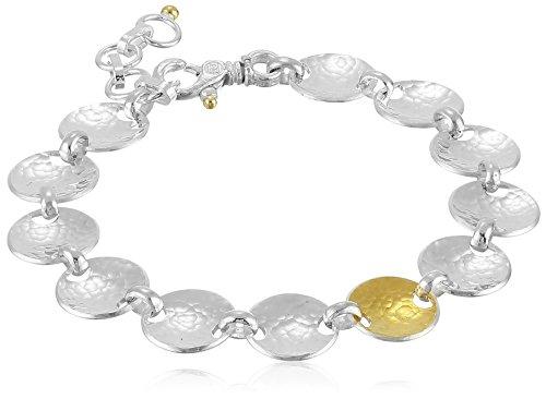 (GURHAN Hourglass Sterling Silver Soft Bracelet, 8