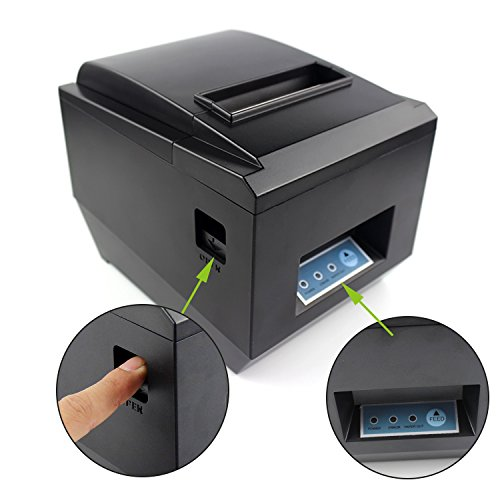 Pos Thermal Usb Square Receipt Printer Ethernet Lan