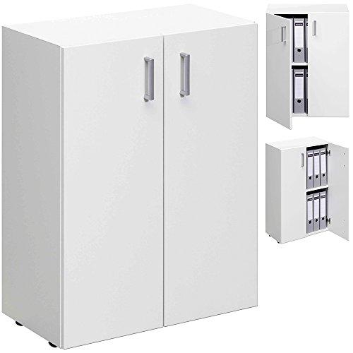 TRIO Standregal Regal Schrank Mehrzweckschrank mit 2 Türen und viel Stauraum - weiß