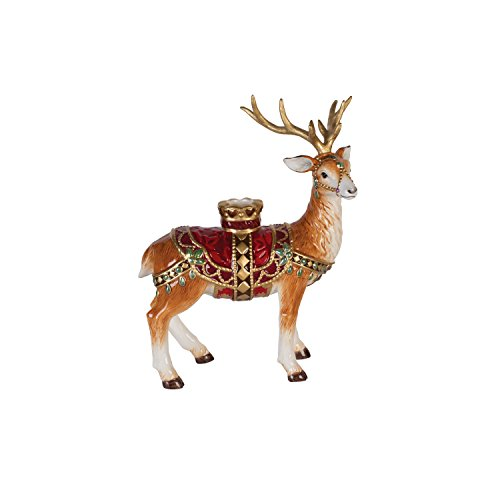 Fitz and Floyd 49-661 Renaissance Holiday Deer Candleholder, Standing - Fitz And Floyd Renaissance