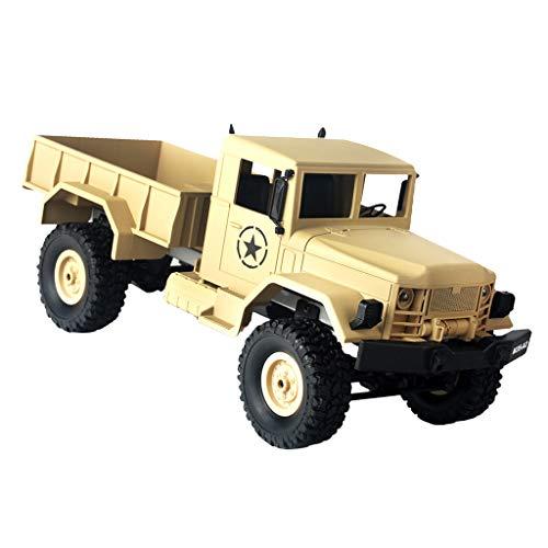 SM SunniMix プラスチック 1/16スケール リモコンバギー 軍用車モデル 4WD トラック ロッククローラー 全3色 - 黄