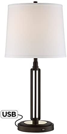 nightstand lamp with usb port iron man franklin iron works javier bronze table lamp with usb port
