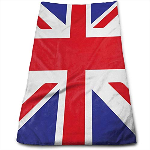Classic Traditional Flag United Kingdom Modern British Loyalty Symbol Bath Towels for Bathroom-Hotel-Spa-Kitchen-Set - Circlet Egyptian - Highly Absorbent Hotel Quality Towels