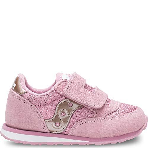 Saucony Girls' Baby Jazz HL Sneaker, Metallic/Pink, 11 Medium US Little Kid ()