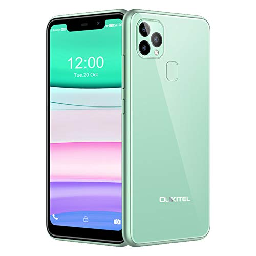 Smartphones Unlocked, OUKITEL C22 Unlocked Cell Phone 128GB+4GB, 4000mAh Battery, 5.86inch, Dual 4G Phone Android 10, 13MP Triple Cameras, Face ID&Fingerprint Unlock, US Version (Green)