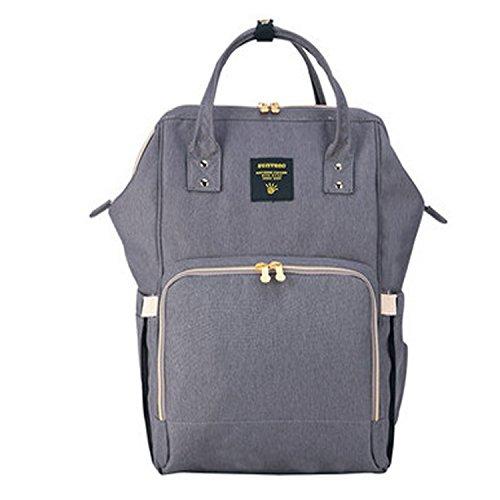 bigforest sunveno maternidad momia multifunción mochila de viaje bolso de mano bolso bebé pañales para pañales bolso cambiador negro negro Talla:talla única gris
