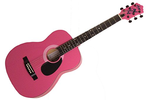 Kay Guitar K337P Concert Size 39'' Steel String Guitar, Pink by Kay