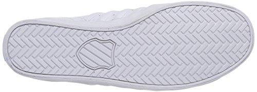K-Swiss BELMONT - zapatilla deportiva de piel hombre blanco - Weiß (WHITE/CLASSIC BLUE 117)
