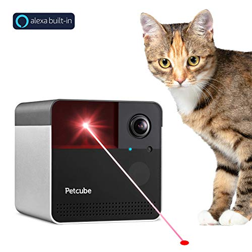 [New 2019] Petcube Play 2 Wi-Fi Pet Camera with Laser Toy & Alexa Built-In, for Cats & Dogs. 1080P HD Video, 160° Full-Room View, 2-Way Audio, Sound/Motion Alerts, Night Vision, Pet Monitoring App from Petcube