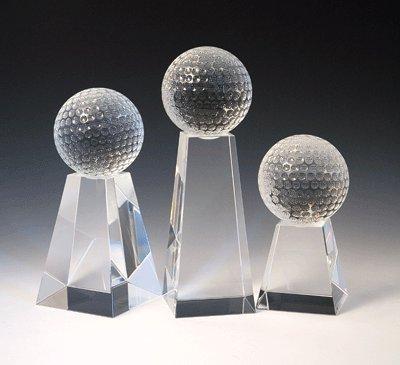 Crystal Golf Tower Award (Golf Tower Crystal Trophy - Large)