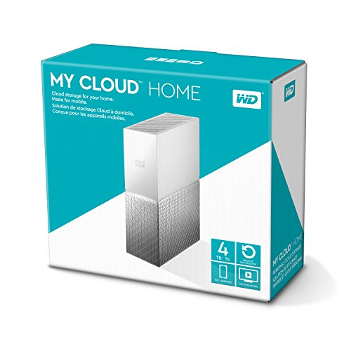 Western Digital WDBVXC0040HWT-EESN My Cloud Home Nube Personal, Ethernet, 4TB, Blanco/Gris