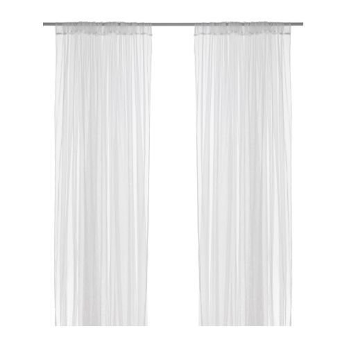 Curt Rod - NEW IKEA PAIR OF CURTAINS 2 PANELS THIN SHEER WHITE 57