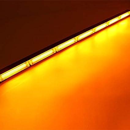 Barra de luz estrobosc/ópica intermitente de emergencia 108 W 895 mm color amarillo /ámbar