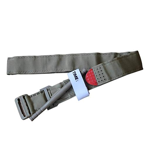 LeoVatino Outdoor Hiking Portable First Aid Quick Slow Release Buckle Medical Military Tactical One Hand Emergency Tourniquet Strap