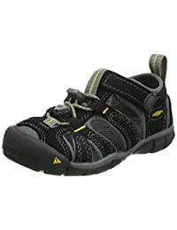 Keen Kids Seacamp II CNX Sandals, Black/ Yellow, 6 M US Big Kid