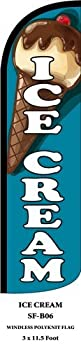 Ice Cream Swooper Feather Flags Banner Sign