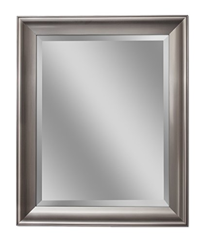 Head West 35 x 45 Wall Brush Nickel Transitional Mirror,35x45