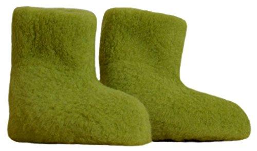 Misure 100 Green Di Scaldapiedi nbsp; Samwo Pantofole 35 In Lana Pecora Pea qwOSWzTxtW