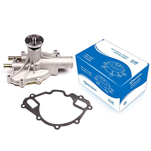 ECCPP Water Pump With Gaskets PW254 Pump Fit for 1994 1995 1996 Ford Bronc 1990 1991 Ford E-250 Econoline Club Wagon 1995 1996 Ford F-250 1996 1997 Ford F-350 ()