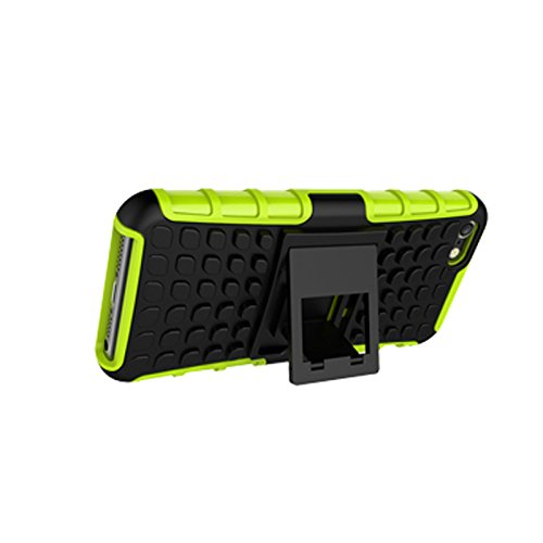 iPhone 5/ 5S/ SE Funda,COOLKE Duro resistente Choque Heavy Duty Case Hybrid Outdoor Cover case Bumper protección Funda Para Apple iPhone 5/ 5S/ SE - púrpura verde