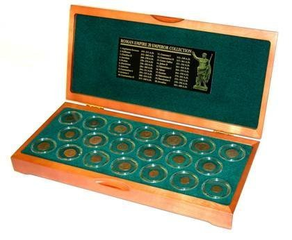 20 Roman Emperor Deluxe Boxed Collection of Genuine coins. by Roman Coins
