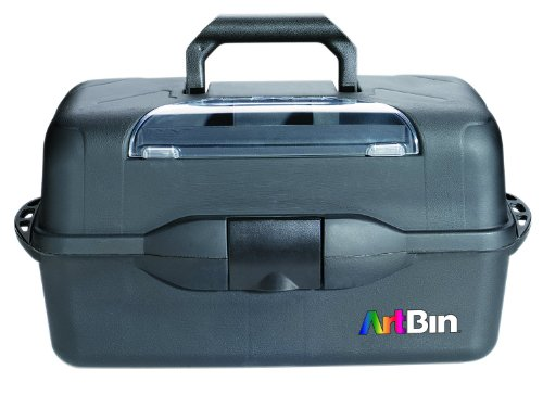 ArtBin  X-Large 3 Tray Art Supply Storage Box - Black, 8237AB
