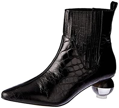 SKIN Footwear Women's Ryland Boot, Black Croc, 10 AU