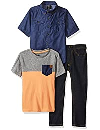 American Hawk Boys' Short Sleeve Shirt, T-Shirt and Pant...