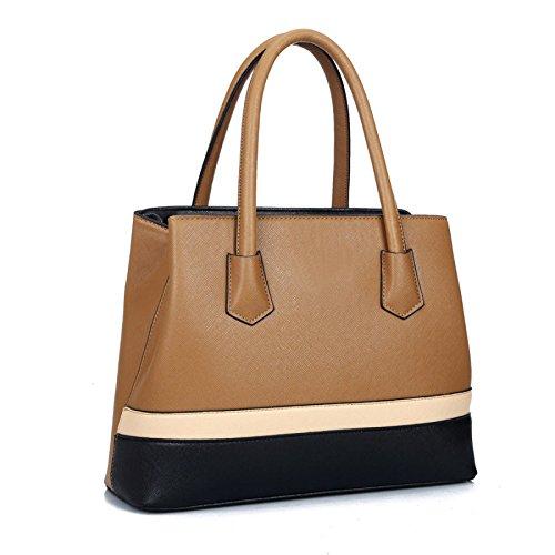 Nueva Europa Y Los Estados Unidos Tide Simple Color Matching Handbags Hombro Bolsos De Tendencia De Moda Darkkhaki