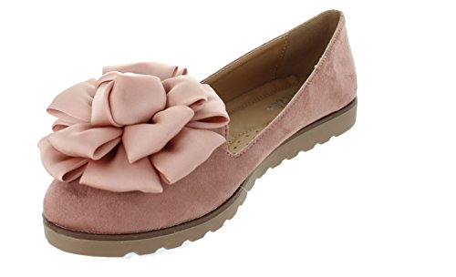 only U Womens Flower Decor Slide Slipper Flats Vera (11, Mauve)